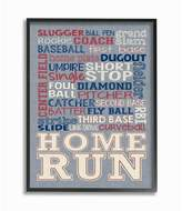Stupell Industries Baseball Denim Feel Framed Giclee Texturized Art