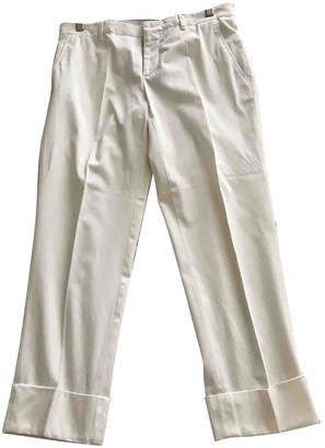 Miu Miu White Cotton Trousers