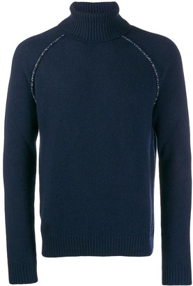 Alanui knit raglan roll neck jumper