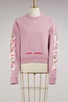 Off-White Diag cherry crop sweatshirt