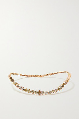 Suzanne Kalan 18-karat Rose Gold Diamond Necklace