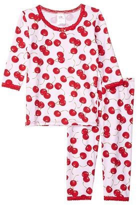 esme 3/4 Sleeve Top Crop Leg (Toddler) (Starburst) Girl's Pajama Sets