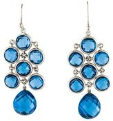 Elizabeth Showers Blue Synthetic Spinel Juliette Chandelier Earrings