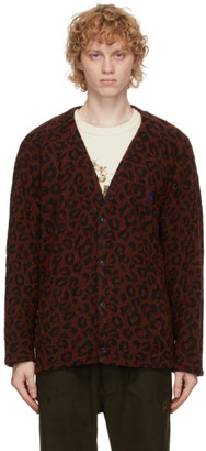 Needles Red Leopard Cardigan