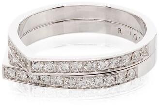 Repossi Antifer 18kt white gold diamond ring