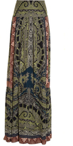Etro Paisley and graphic-print silk skirt