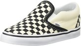 Vans Classic Slip-On (Toddler) - Black and White Checker/White-9.5 Toddler