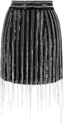 Amen fringed sequin skirt