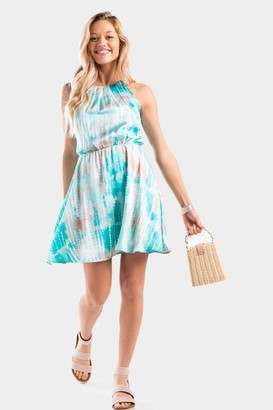 francesca's Imellia Tie-Dye Flawless Dress - Coral