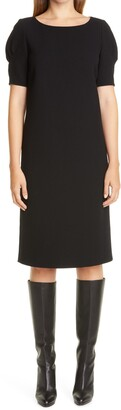 Lafayette 148 New York Milena Nouveau Wool Crepe Shift Dress