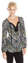 Ella Moss Women's Zuni Print Blouse