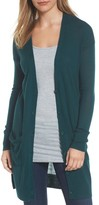 Halogen Women's Rib Knit Wool Blend Cardigan
