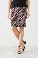 J. Jill Wearever Smooth-Fit Print Pencil Skirt