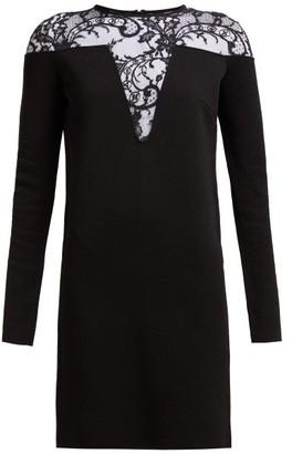 Givenchy Lace-embellished Mini Dress - Black