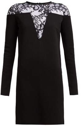 Givenchy Lace-embellished Mini Dress - Womens - Black