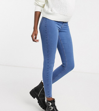 Topshop Maternity Joni overbump skinny jeans in bleach wash