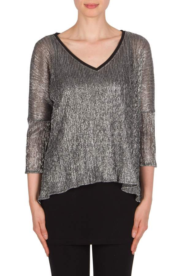 Joseph Ribkoff Glitzy V Neck Tunic Top