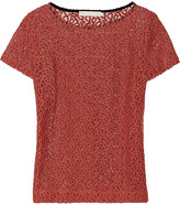 Kain Label Galina embroidered cotton-blend lace top