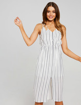 Dotti Stripe Split Front Midi Dress