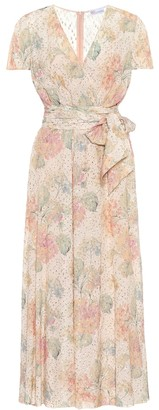 RED Valentino Floral fil coupe dress