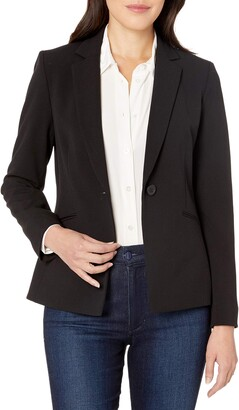 Tahari by Arthur S. Levine Women's Petite Bi-Stretch One Button Jacket with Pinstripe Lining