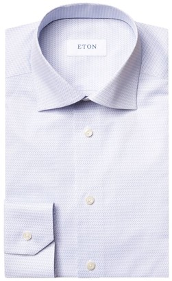 Eton Contemporary-Fit Micro Music Note Dress Shirt