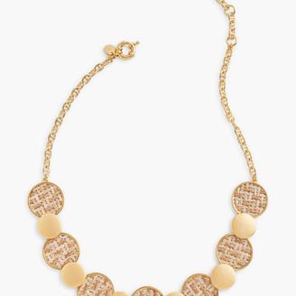 Talbots Short Basketweave Necklace