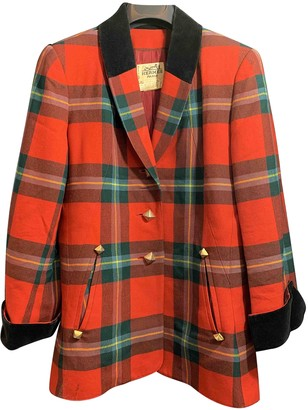 Hermes Red Wool Coats
