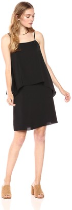 Paris Sunday Women's Spaghetti Strap Layered Shift Dress