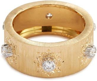 Buccellati 'Macri' diamond gold ring