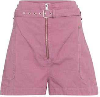 Etoile Isabel Marant Parana cotton and linen Bermuda shorts