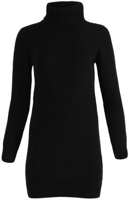 Saint Laurent Black Cashmere Sweater Mini Dress