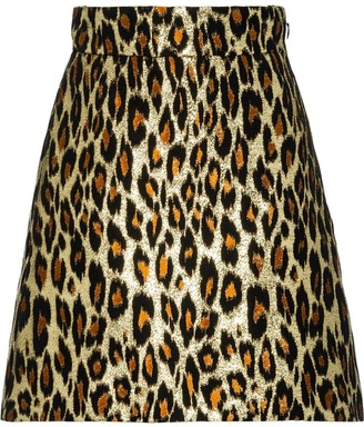 Miu Miu leopard brocade skirt