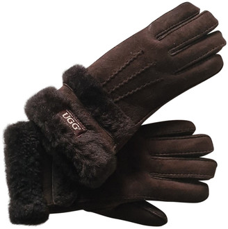 UGG Brown Shearling Gloves