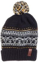 Superdry New Womens Blue Rhumi Bobble Hat Polyester Beanie Beanies