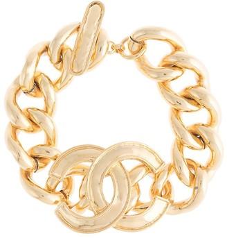 Chanel Pre Owned 1996 CC charm bracelet