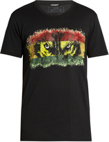 Balmain Wolf-print crew-neck cotton T-shirt
