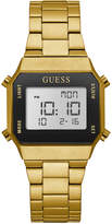 GUESS Unisex Digital Gold-Tone Stainless Steel Bracelet Watch 39x39mm