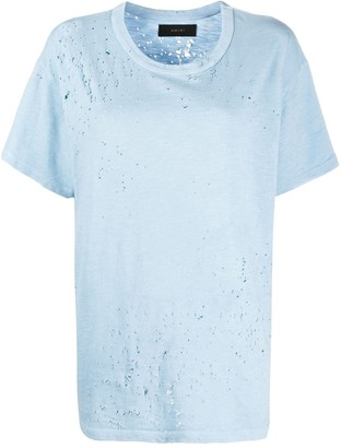 Amiri Shotgun distressed loose-fit T-shirt