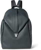 Valextra Pebble-Grain Leather Backpack