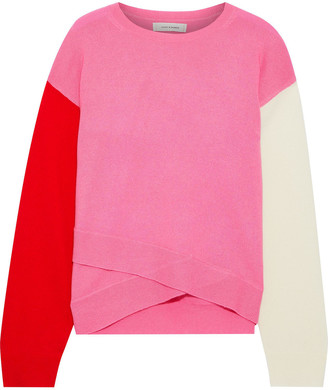 Chinti and Parker Layered Color-block Wool And Cashmere-blend Sweater