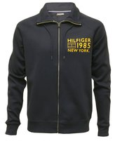Tommy Hilfiger Tommy Luxe Athletic Zip-Thru Jacket, Navy/Citrus