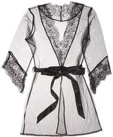 L'Agent by Agent Provocateur Women's Idalia Lace-Trimmed Robe