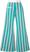 Rosie Assoulin flared stripe trousers - women - Cotton/Viscose - 0