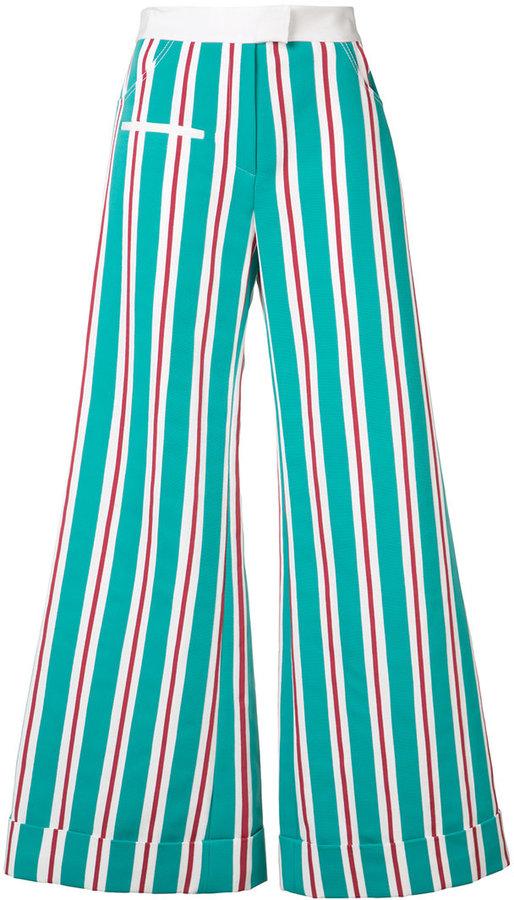 Rosie Assoulin flared stripe trousers