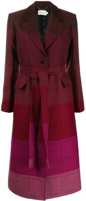 Mary Katrantzou ombre check print coat