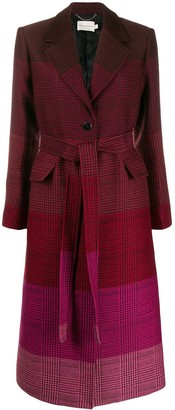 Mary Katrantzou Ombre Check Print Coat