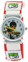 Ben 10 Cartoon Child Kids Boys Girls Analog Quartz Wrist Watch Red Velcro Strap Arabic Numerals Dial