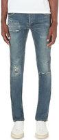 Balmain Distressed Slim-fit Skinny Jeans