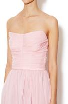 Dolce & Gabbana Silk Chiffon Strapless Ruched Dress